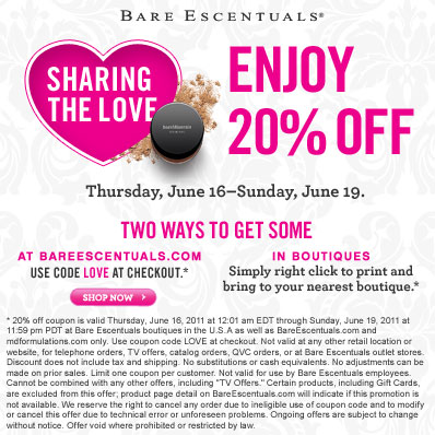 Bare Escentuals coupon